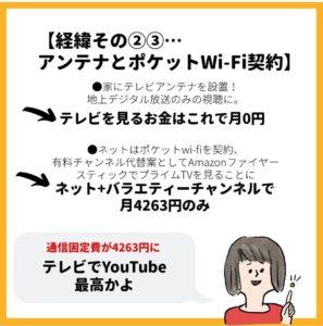 テレビアンテナとポケットWi-Fi